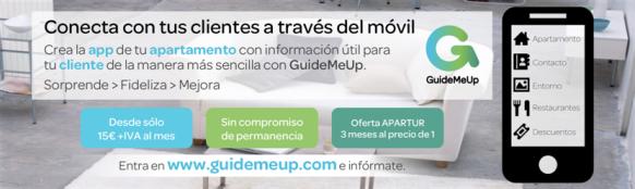 Anuncio de GuideMeUp en la revista Apartur publicado en el mes de febrero